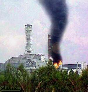 В результате аварии на чернобыльской